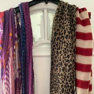 Scarves to dress up outfits. 4 different ones